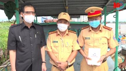 Lực lượng Cảnh sát đường thủy đoàn kết, nỗ lực đảm bảo an ninh trật tự, an ninh biên giới gắn chặt kiểm soát dịch bệnh COVID-19