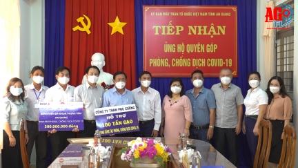 Thêm 100 tấn gạo và 300 triệu đồng ủng hộ Quỹ Phòng, chống dịch COVID-19 tỉnh An Giang