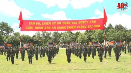 Sư đoàn 330 ra quân giúp nông dân An Giang thu hoạch và vận chuyển nông sản