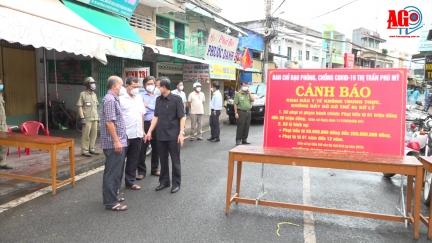 Phú Tân huy động cả hệ thống chính trị tập trung kiểm soát dịch bệnh tại thị trấn Phú Mỹ