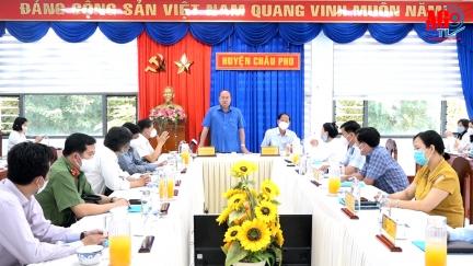 Chủ tịch UBND tỉnh An Giang Nguyễn Thanh Bình làm việc tại huyện Châu Phú về công tác phòng, chống dịch