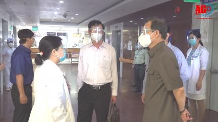Bí thư Tỉnh ủy An Giang Lê Hồng Quang kiểm tra công tác phòng, chống dịch bệnh COVID-19 tại Bệnh viện Đa khoa Trung tâm An Giang