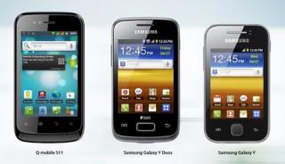 """<font size=""""2"""">Q-Mobile S11 mới ra mắt với giá 1.990.000 đồng là sản  phẩm cạnh tranh trực tiếp cùng phân khúc với bộ đôi&nbsp;Samsung Galaxy Y và  Galaxy Y&nbsp;Duos.</font>"""