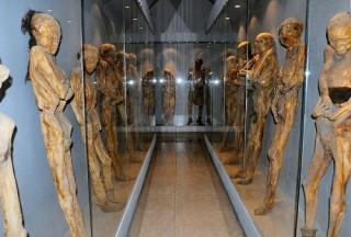 """<font size=""""2"""">Bảo tàng xác ướp là một  không gian triển lãm đặc biệt nằm ở bang Guanajuato của Mexico, trưng  bày những xác ướp được khai quật trong một nghĩa trang địa phương vào  đầu thế kỷ 19. <br></font>"""