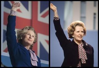 """<font size=""""2"""">Đáng chú ý nhất trong các tác phẩm điện ảnh làm về  Margaret Thatcher, phải kể tới """"The Iron Lady"""" (Người đàn bà thép). Nữ  diễn viên người Mỹ Meryl Streep đã đoạt tượng vàng Oscar với vai diễn  xuất sắc này.</font>"""