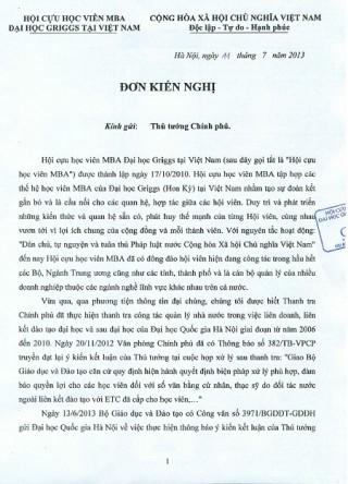 Bộ GD-ĐT giữ nguyên quan điểm xử lý văn bằng thạc sỹ ĐH Quốc gia Hà Nội
