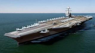 """<font size=""""2"""">Cuối tuần qua, Mỹ đã hạ thủy thành công tàu sân  bay tối tân nhất thế giới chạy bằng năng lượng hạt nhân. </font>"""