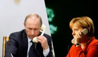 Ông Putin và bà Merkel lại điện đàm thảo luận về Ukraine