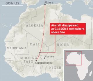 Pháp điều 2 chiến đấu cơ tìm máy bay Algeria mất tích