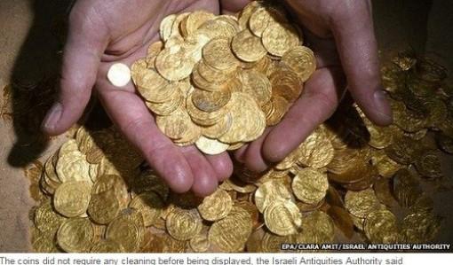 Tìm thấy kho tiền xu bằng vàng lớn nhất thế giới ở Israel