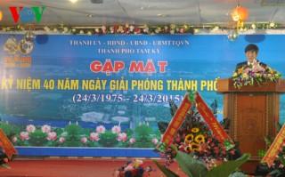 Nhiều hoạt động kỷ niệm 40 năm giải phóng Quảng Nam, Đà Nẵng