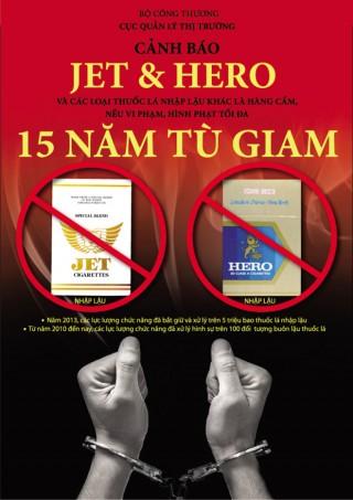 Tác hại của thuốc lá Hero, Jet và chính sách tiêu hủy