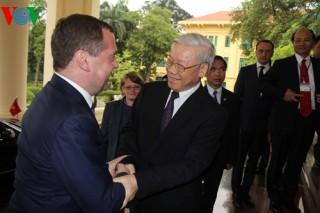 Tổng Bí thư Nguyễn Phú Trọng tiếp Thủ tướng Nga