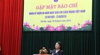 Bộ Y tế gặp mặt các phóng viên báo chí nhân kỷ niệm 90 năm Ngày Báo chí cách mạng Việt Nam
