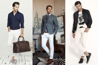 Những lưu ý cho phái mạnh khi mặc quần trắng