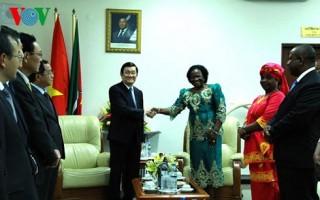 Chủ tịch nước hội kiến Chủ tịch Quốc hội Mozambique