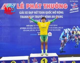 Chặng 3, Giải xe đạp nữ toàn quốc mở rộng, về nhì, nhưng Nguyễn Thị Thật vẫn tiếp tục giữ Áo vàng, Áo xanh