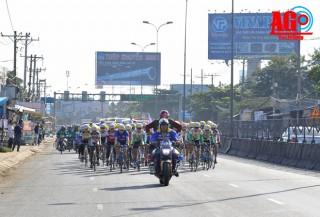 Chặng 4, Giải xe đạp nữ toàn quốc mở rộng Nguyễn Thị Thật tiếp tục giữ Áo vàng