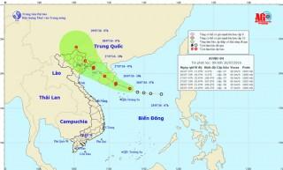 Áp thấp nhiệt đới mạnh lên thành bão, mưa giông nguy hiểm