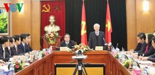 Tổng Bí thư Nguyễn Phú Trọng nêu ra 4 vấn đề với Ban Kinh tế TƯ
