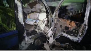 Đà Nẵng: Cháy kho chứa gạch men, 2 ô tô hư hỏng nặng