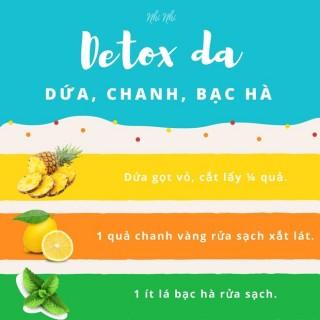 Bốn thức uống detox giúp làn da vẫn tươi trong những ngày nắng nóng