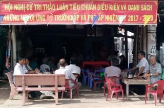 Phú Tân sẵn sàng ngày bầu cử Trưởng, phó ấp