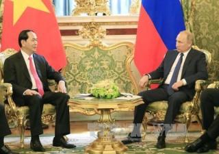 Chủ tịch nước Trần Đại Quang hội đàm với Tổng thống LB Nga Vladimir Putin