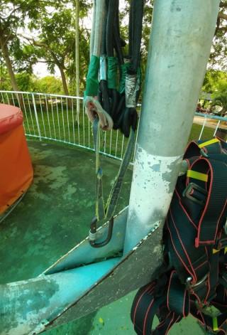 Đứt cáp trò chơi siêu nhún trên Hồ Mây, 1 du khách nhập viện