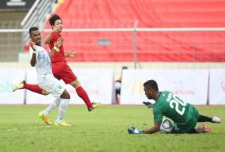 U-22 Việt Nam - Đông Timor 3-0: Văn Hậu lập cú đúp (hết hiệp 1)