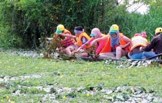 Lòng hồ Tân Trung đón mùa du lịch nước nổi