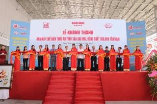 Tập đoàn Sao Mai: Khánh thành nhà máy thức ăn thủy sản 800 tỷ đồng