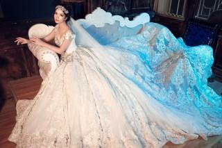 Gái hai con Đan Lê diện váy cưới như nữ hoàng