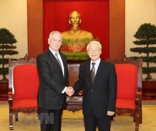 Tổng Bí thư Nguyễn Phú Trọng tiếp đoàn Bộ Quốc phòng Hoa Kỳ