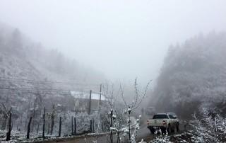 Mưa tuyết xuất hiện tại nhiều nơi, phủ trắng núi rừng phía Bắc
