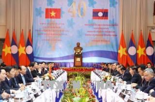 Thủ tướng Nguyễn Xuân Phúc và Thủ tướng Lào đồng chủ trì Kỳ họp Ủy ban liên Chính phủ