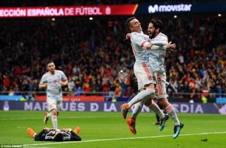 Tây Ban Nha giành chiến thắng hủy diệt 6-1 trước tuyển Argentina