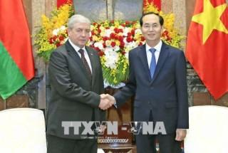 Chủ tịch nước Trần Đại Quang tiếp Phó Thủ tướng Cộng hòa Belarus