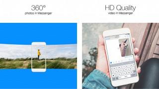 Facebook Messenger hỗ trợ hình ảnh 360 độ và video HD