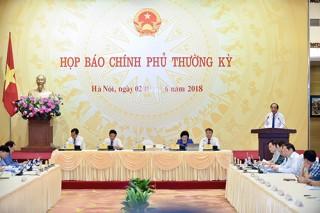 Nội dung họp báo Chính phủ thường kỳ tháng 5-2018
