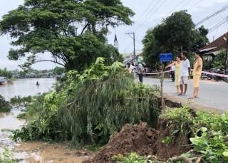 Sạt lở nghiêm trọng ở Chợ Mới, hơn 50 mét đất rơi xuống sông Ông Chưởng