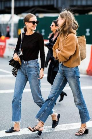 Kiểu quần jeans vừa thoải mái lại không lỗi mốt đang được lòng chị em