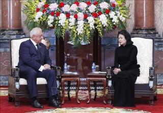 Quyền Chủ tịch nước Đặng Thị Ngọc Thịnh tiếp Chủ tịch Thượng viện Belarus