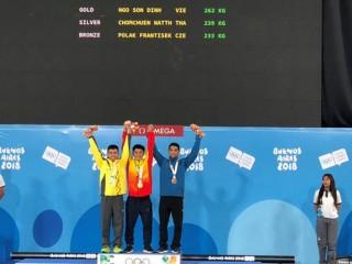Ngô Sơn Đỉnh giành HCV cử tạ Olympic trẻ 2018