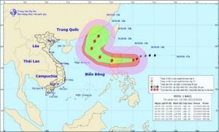 Sáng 30-10, bão Yutu sẽ gây mưa, gió mạnh vùng biển Đông Bắc Biển Đông