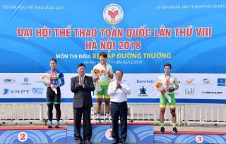 Đại hội Thể dục - Thể thao toàn quốc lần VIII-2018: Xe đạp đường trường An Giang thắng lớn