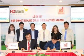 HD Bank đồng hành với Sao Mai Group xúc tiến dự án điện NLMT