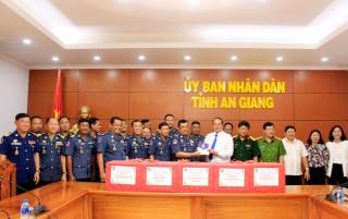 Lực lượng Quân cảnh Vương quốc Campuchia thăm, chúc Tết tại An Giang
