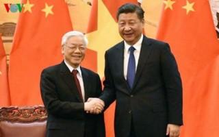 Lãnh đạo Việt Nam - Trung Quốc trao đổi thư chúc mừng năm mới Kỷ Hợi