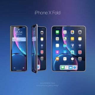 """Loạt ảnh """"iPhone X Fold"""" màn hình gập đáng mong đợi"""